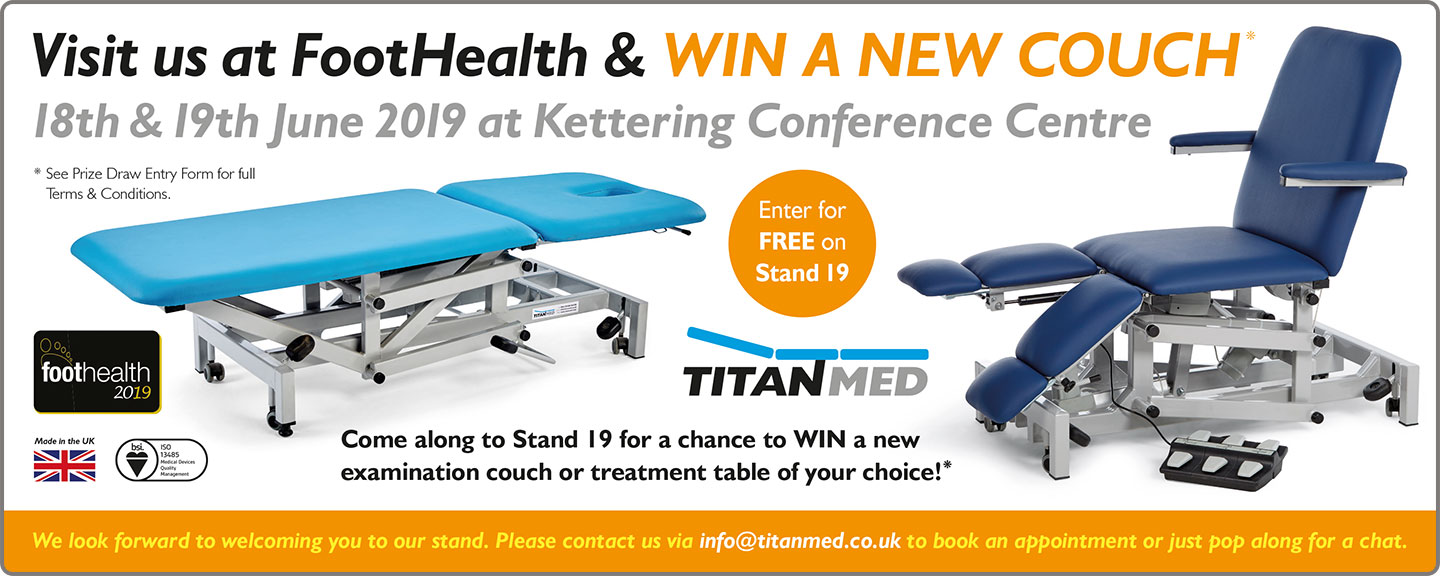 TitanMed are exhibiting at Foot Health