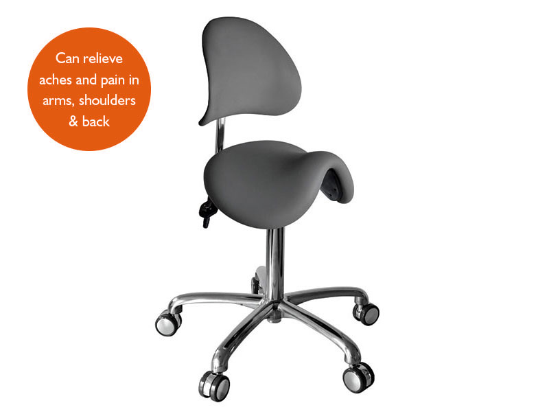 Titan Backrest Saddle Stool